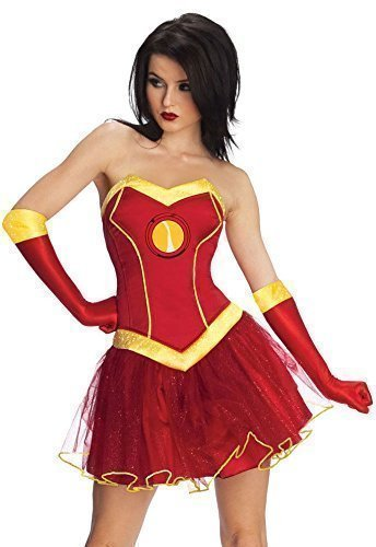 engers Iron Man Superheld Tutu Comicbuch Tag Woche Halloween Film Kostüm Kleid Outfit UK 6-18 - Rot, Rot, UK 6-8 (Marvel Outfits)