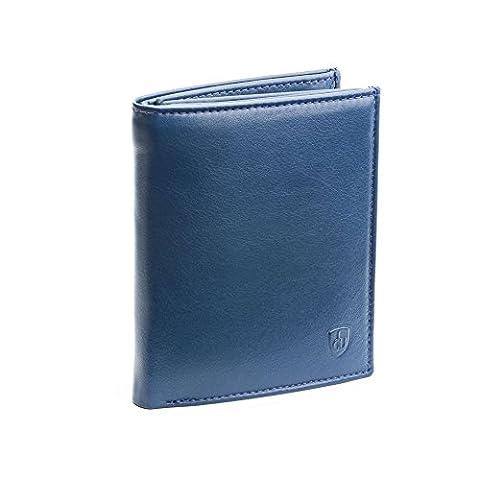 DV - Portefeuille - Collection Plume - Double flap - Bleu - Homme