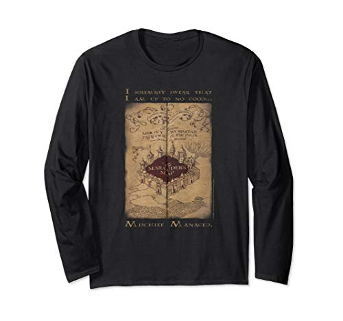 Harry Potter Marauder's Map Words Langarmshirt -