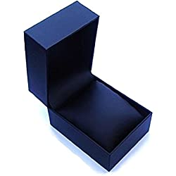 Mens Black Leatherette Cushion Watch Case - Gift Box - Presentation Box