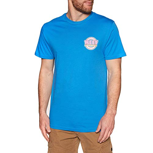 Reef Authentic Short Sleeve T-Shirt Large Lake Blue
