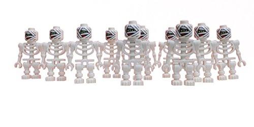 Lego 10x weißes Skelett Mumie Mumienskelett white Mummy skeleton Minifigur