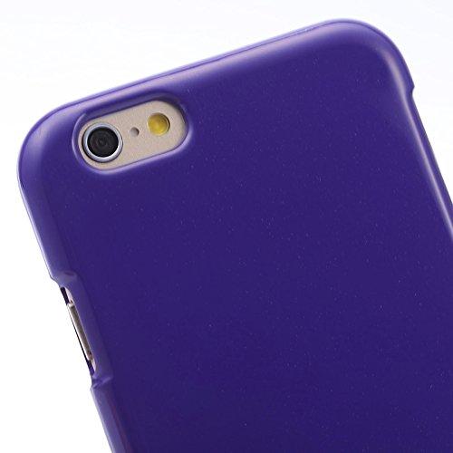 Phone case & Hülle Für IPhone 6 u. 6S, Gelee schimmernder Puder TPU Fall ( Color : Magenta ) Purple