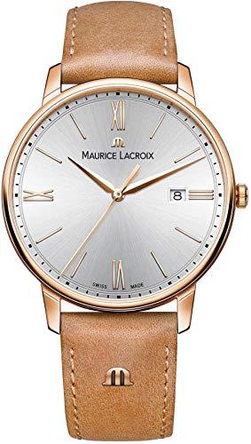 Maurice Lacroix Herren Analog Quarz Uhr mit Leder Armband EL1118-PVP01-111-2