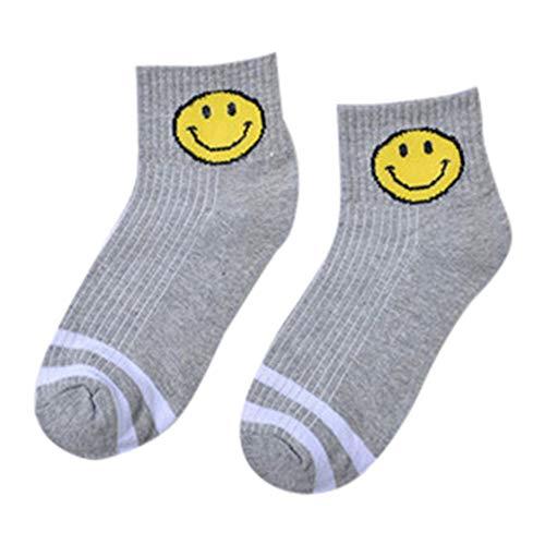 XuxMim Unisex Socken Warm Cool Lässige Mode Baumwolle Smile Stripe Söckchen