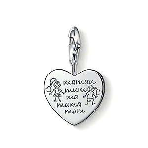 Thomas Sabo Damen-Charm Club-Anhänger MAMA 925er Sterlingsilber Für alle Mamis auf dass sie stets geliebt werden! 0784-001-12