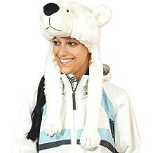 Regalos con nombres oso polar suave peluche Gorro, color blanco, One size