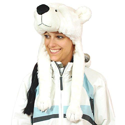 Geschenke mit Namen Eisbär Kuschelig Weich Plüschmütze, Weiß, One ()