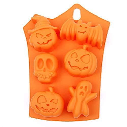Kentop Halloween stampo in silicone per la cottura e fai da te pipistrello e zucca Forma per Torte Muffin biscotti cioccolato fatto a mano