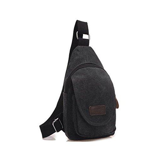 BULAGE Brusttasche Für Männer Lässig Leinwand Mode Sport Schulter Langlebig Schmutz Einfach Elegant Black