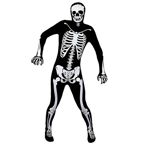 Skinsuit GANZKÖRPERANZUG KOSTÜM VERKLEIDUNG Variation =IN 6 Verschiedenen VARIATIONEN = Halloween +Fasching Party= ERHALTBAR IN 5 Verschiedenen GRÖßEN= Skelett-MEDIUM