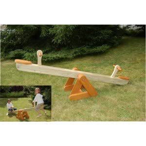 balan oire bascule en bois tagada couleur orange mati re bois jardin. Black Bedroom Furniture Sets. Home Design Ideas