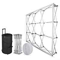 Techlifer 8x8FT Trade Show Display Pop Up Booth Tension Fabric Aluminum Frame Foldable Stand Booth MDF Boards Backdrop Stand