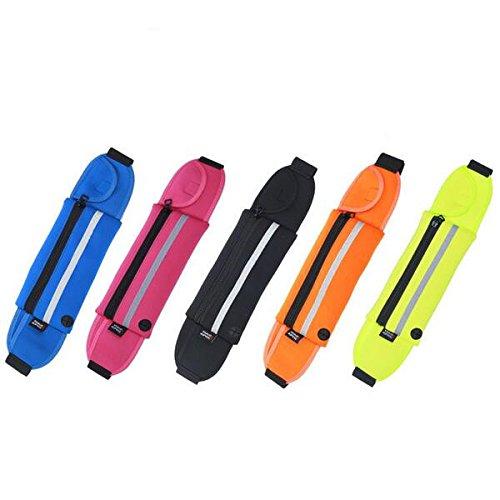 Tutoy Running Sport Anti-Diebstahl-Taille Tasche Unisex Leichtgewicht Handy Case Multifunktions-Taillengürtel-Rot