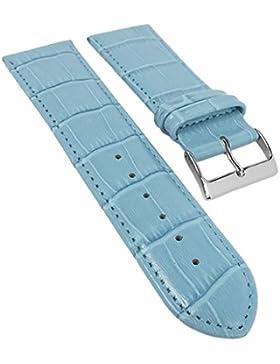 Ersatzband Uhrenarmband Kalbsleder Hellblau 20321S, Stegbreite:24mm