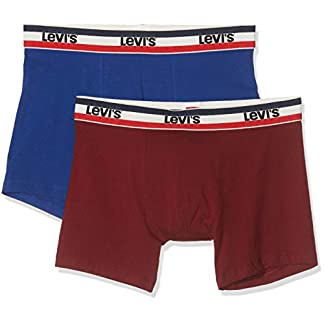 Levi's Levis 200sf Sprtswr Logo Color Boxer Brief 2p (Pack de 2) para Hombre