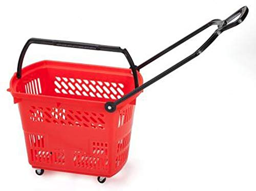 Bigapple BA-Basket42L Heavy Weight King Shopping Basket with Wheels, 42L Capacity