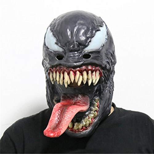 Gift Maske Mit Zunge Schmelzen Gesichtsmaske, Halloween Maskerade Party Kostüm Cosplay Beängstigend Requisiten Kopfbedeckungen Für Erwachsene Und Kinder, Einheitsgrösse