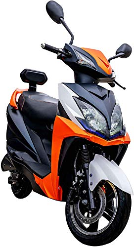 Elektroroller FACLON, 3400 Watt, E-Scooter, Elektro-Roller, E-Roller mit Straßenzulassung, herausnehmbarer Lithium-Akku, 80 km Reichweite, 45 km/h, Produktvideo, Orange