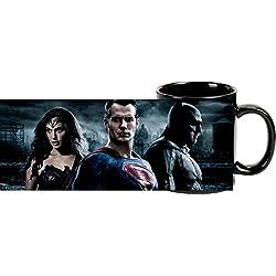"'Batman vs. Superman 0122081Taza de café ""Batman, Superman, Wonder Woman, aprox. 300ml, steingut/Porcelana, color blanco"
