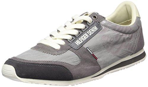 Hilfiger Denim S2385print 1c, Sneaker Basse Uomo Grigio (Grau (STEEL GREY 039))