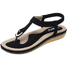 Angelof Sandales Femmes, Sandales Plates BohèMe Femmes Chaussures Glisser  Rivet Escarpin Pied Large D'
