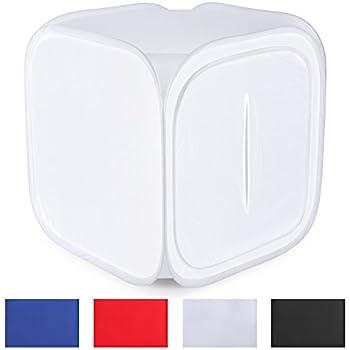 Neewer 32''x32'' / 80x80 cm Fotostudio Aufnahme Zelt Lichtwürfel Diffusions Soft Box-Set mit 4 Farben-Hintergründe (Rot Dunkelblau Schwarz Weiß) für Fotografie