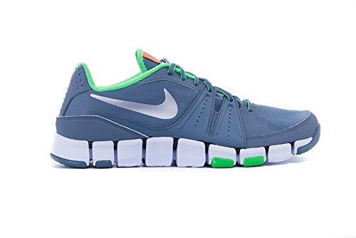Nike Herren Flex Show Tr 3 Klassischer Schnürhalbschuh, Talla Gris / Verde (Bl Grpht / Mtllc Slvr-Psn Grn-Tt)