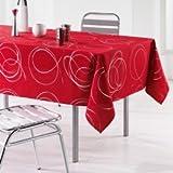 L'Harmonie du décor Nappe Imprimé Argent Bully Polyester Rouge 240 x 150 x 240 cm