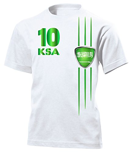 Saudi Arabien Fanshirt Streifen 5841 Kinder T-Shirt (K) Gr. 122