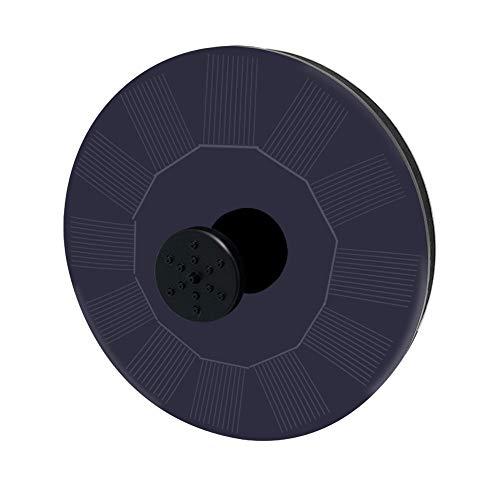 Uhpwmt Solar Springbrunnen Für Garten, Teich Und Vogelbad, Solarbetriebenes Wasserspiel (schwarz) -