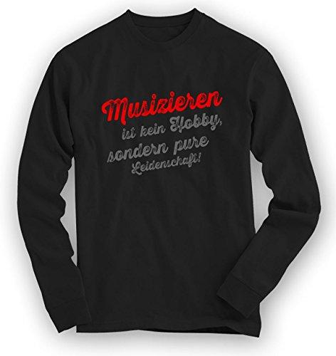 Musizieren Sweatshirt | Musik-Pullover | Leidenschaft | Musiker | Unisex | Sweatshirts Schwarz