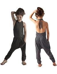 vovotrade El niño de los cabritos embroma la ropa Backfits de los equipos de los pantalones del harem del mono del mameluco de la correa del verano del verano de los bebés
