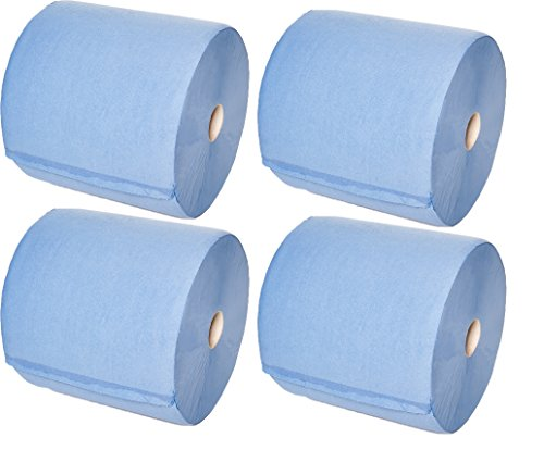 4er-Pack Putztuchrollen MINI 2-lagig blau 22x36cm 100% Zellstoff, ca. 500 Abr...