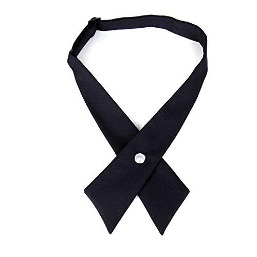 Vococal - Unisex einstellbar Emcee Schuluniform Fliege - Frequenzweiche Kreuz Krawatte Bowties, Schwarz