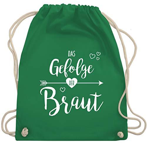 bschied - Das Gefolge der Braut - Unisize - Grün - WM110 - Turnbeutel & Gym Bag ()