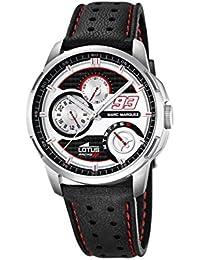 Lotus 18241/1 - Reloj de pulsera hombre, Cuero, color Negro