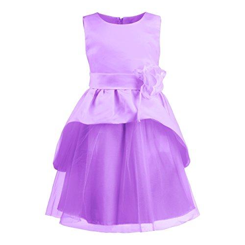 Katara 1692-04 - Festliches Blumen-Mädchen-Kleid Gr. 98-104, 2-3 Jahre, lila/violett (Kleider Kommunion Billig Online)
