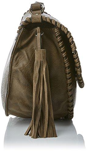 Refresh Damen 83102 Schultertasche, 29x23x13 cm Braun (Taupe)