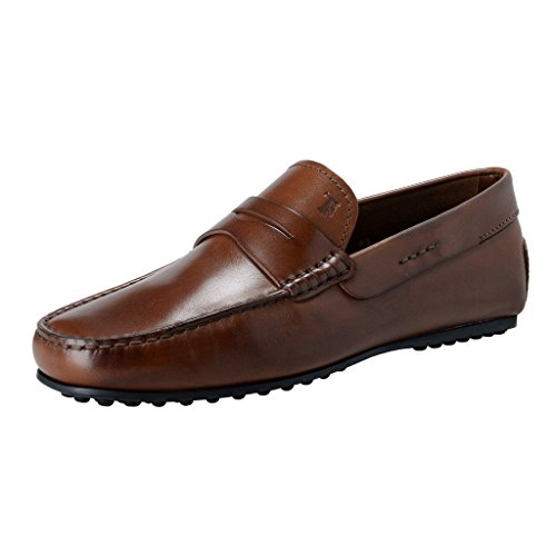 tods-mens-brown-leather-driving-moccasins-slip-on-loafers-shoes-us-75-it-65-eu-405