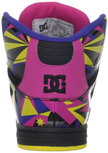 DC Shoes REBOUND HI LE D0303400, Baskets mode femme Noir (Schwarz)