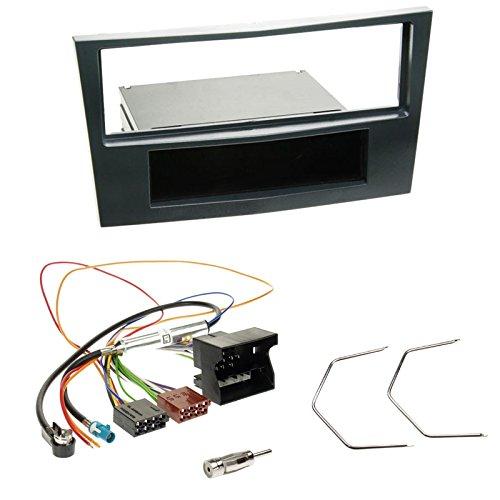 Einbauset : Autoradio Radioblende Radio Blende mit Ablagefach - stealth black + Quadlock Adapter+Antennenadapter+Entriegelungswerkzeug für Opel Antara, Astra H, Corsa D, Zafira B ab 2004