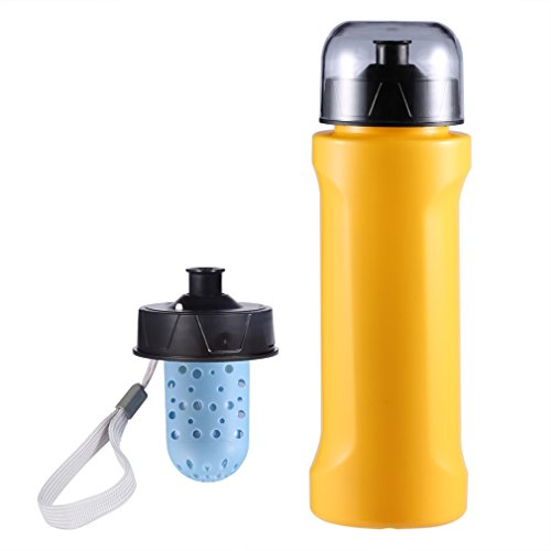 Wasser Filter Flasche, leshp 750ml PE/PP Wasser Aktivkohle Flasche Cup für Outdoor Trinkwasser Filtration Gerät - Aktivkohle-filtration