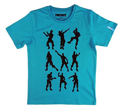 Camiseta Azul compatible con Fortnite Bailes (Azul, 12 años)
