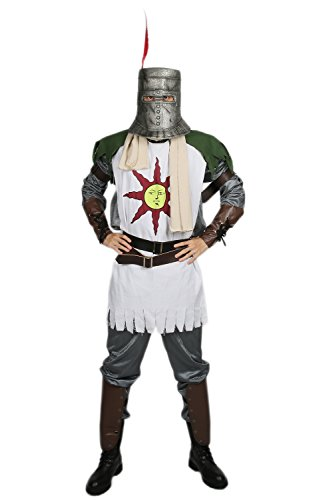 Halloween Solaire Costume Men Deluxe Cosplay Outfit with Accessories for Adult Fancy Dress Clothing Merchandise Replica