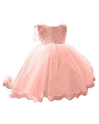 Kidsform Baby Mädchen Prinzessin Kleid Taufkleid Festlich Kleid Hochzeit Partykleid Festzug Babybekleidung Orange 2-3Y