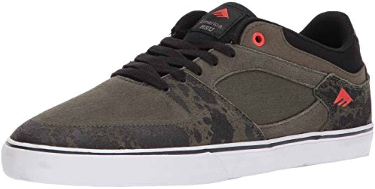 Emerica Herren The HSU Low VULC Skateboardschuhe  Schwarz  42.5 EU