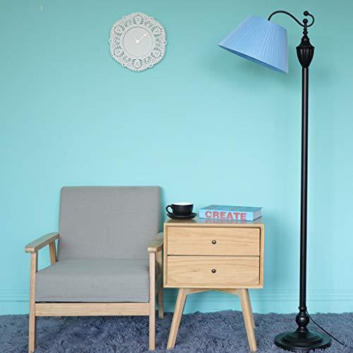 Vbimlxft- Stehleuchte Wohnzimmer Angeln Lampe Schlafzimmer Einfache Moderne Nordic Stehleuchte Retro Stehleuchte Stehlampe (Farbe : C sky blue-A No tray - foot switch)