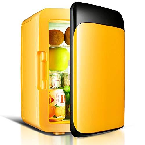 WYJW Auto Kühlschrank 8L schwarz Kühlschrank/Single Door Mini Kühlschrank/Family Dormitory kleinen Kühlschrank / 12V Auto / 220V Haushalt kleinen Kühlschrank (Farbe: Gelb)