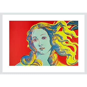 Andy Warhol Poster Kunstdruck Bild Daisy blau rot 50x50 cm